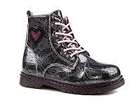 Демисезонная обувь оптом. Ботиночки для девочек оптом от производителя EEBB W551 grey (8 пар, 27-32)