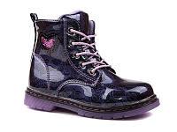 Демисезонная обувь оптом. Ботиночки для девочек оптом от производителя EEBB W551 purple (8 пар, 27-32)