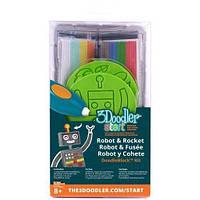 Набор аксессуаров для 3D ручки 3Doodler START РАКЕТА, 48 стержней, 2 шаблона (3DS-DBK-RO)