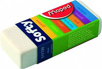Ластик Maped SOFTY  в картонном держателе , дисплей    (MP.511790)