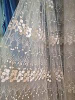 Тюль Турция 1005 фатин с мелкими ромашками