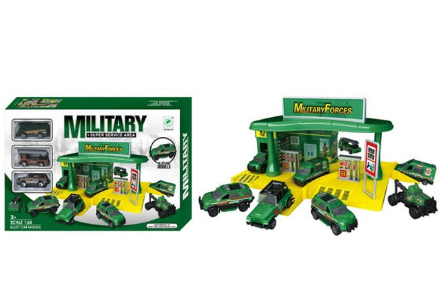 Парковочный центр с военными машинами 660-105, гараж, паркинг