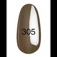 Гель-лак  Kodi 8 мл № 305 серо-коричневый, эмаль