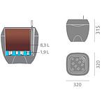 Цветочный горшок с системой орошения Parabole 315, фото 3