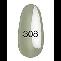 Гель-лак  Kodi 8 мл № 308 серо-зеленоватый, эмаль