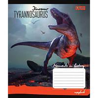Тетрадь 12 листов клетка Динозаври