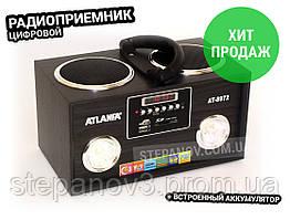 Радиоприемник радио ФМ FM с флешкой колонка USB ATLANFA AT-8972