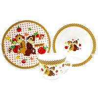 Детский набор посуды из стеклокерамики Чип и Дейл