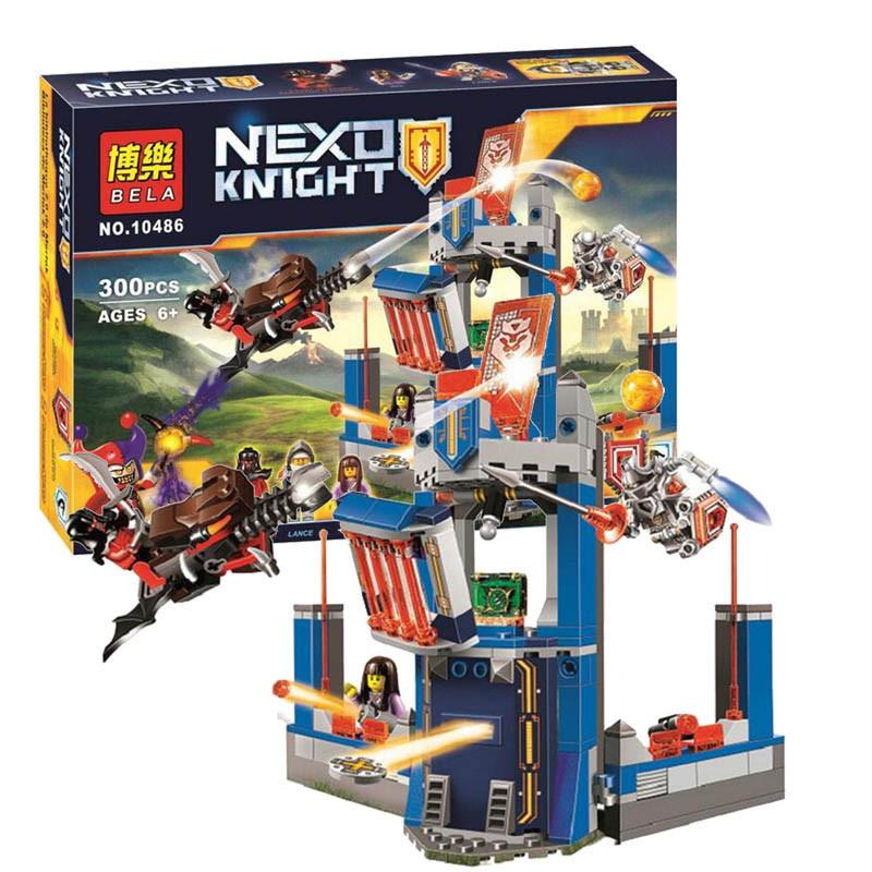 """Конструктор лего нексо Bela 10486 Nexo Knights (аналог Лего 70324) """"Библиотека Мерлока 2.0"""", 300 дет"""