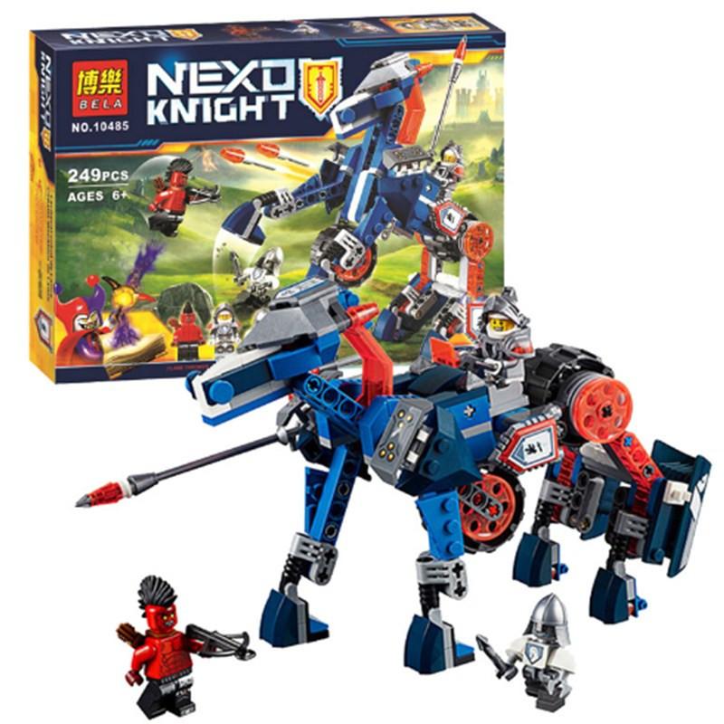"""Конструктор лего нексо Bela 10485 Nexo Knights """"Ланс и его механический конь"""" 249 деталей"""