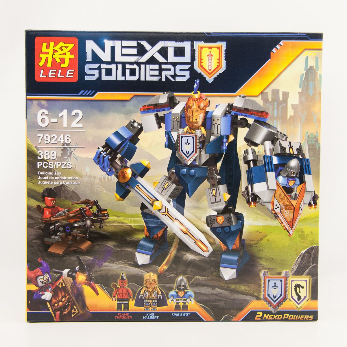 """Конструктор лего нексо 79246 LELE Nexo Knights """"Королевский Мех"""", 389 дет"""