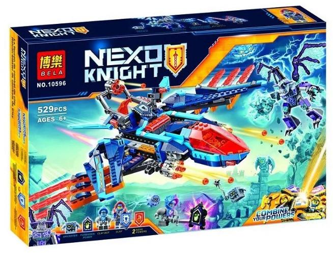 """Конструктор лего нексо Bela 10596 Nexo Knight """"Самолет-истребитель Сокол Клэя"""", 529 дет"""