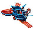 """Конструктор лего нексо Bela 10596 Nexo Knight """"Самолет-истребитель Сокол Клэя"""", 529 дет, фото 4"""