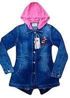 Джинсовая куртка для девочек, размеры 134-164 Seagull арт. CSQ-89883