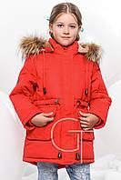 Теплая зимняя куртка  парка для девочки X-Woyz 8236