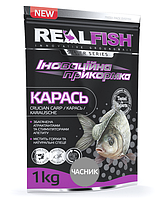 Прикормка рыболовная Real Fish  Карась Чеснок
