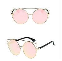 Солнцезащитные очки кошка тишейды большие Пудра
