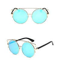 Солнцезащитные очки кошка тишейды большие Голубой