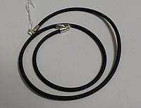 Шнурок колье из каучука с серебром, фото 1