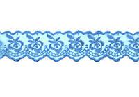 Кружево 4,5 см голубое 9 м