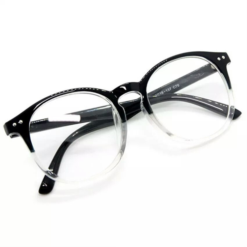 """Имиджевые очки полупрозрачные  круглые большие -  """"Live brightly"""" в Запорожье"""