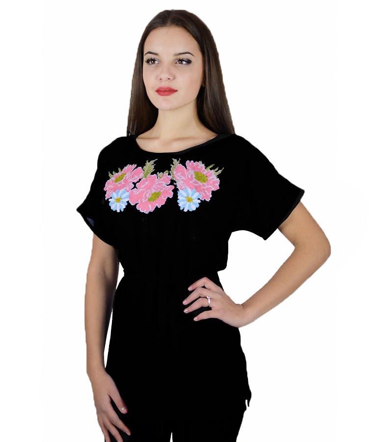Сорочка вишита жіноча, короткий рукав, 40-52 розміри