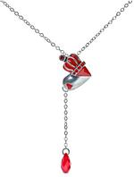 """Колье """"Эве"""" с кристаллами Swarovski, покрытое серебром (j5293515)"""