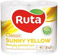 """Бумага туалетная """"Ruta Classic"""" 2-слойная 4рул. желтая+ВС"""