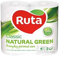 "Бумага туалетная ""Ruta Classic"" 2-слойная 4рул. зеленая+ВС"