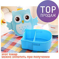 Детский ланч бокс Bento Совушка Синий / посуда для детей