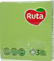 Салфетки Ruta Колор 33*33 20шт в уп. зеленые 3-слойные+ВС