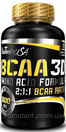 BCAA 3D 90 капсул BioTech