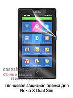 Глянцевая защитная пленка для Nokia X Dual Sim