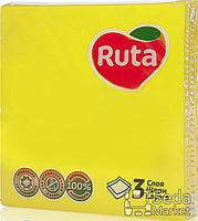 Салфетки Ruta Колор 33*33 20шт в уп. желтые 3-слойные+ВС