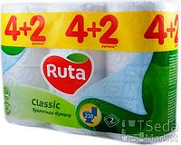 """Бумага туалетная """"Ruta Classic"""" 2-слойная 4+2 рул. белая"""
