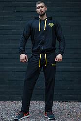 Черный мужской спортивный костюм DiamondPRO