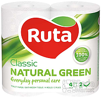 "Бумага туалетная ""Ruta Classic"" 2-слойная 4рул. зеленая"