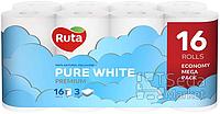 Бумага туалетная Ruta Pure White 16 рул
