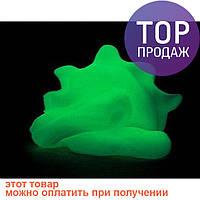 Хендгам Светящийся Зеленый 50г (запах сладкой жвачки) / Пластилин для рук
