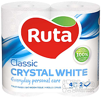 """Бумага туалетная """"Ruta Classic"""" 2-слойная 4рул. белая"""