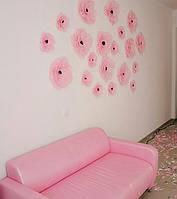 Диван для салона красоты в розовом цвете