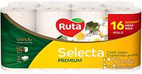Бумага туалетная Ruta Selecta белая аром. ромашки 16 рул