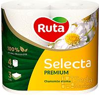 """Бумага туалетная """"Ruta Selecta"""" 3-слойная 4рул. аромат ромашки"""