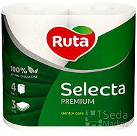 """Бумага туалетная """"Ruta Selecta"""" 3-слойная 4рул. белая"""
