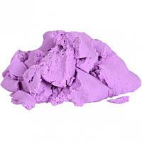 Кинетический песок 500г цветной для детей, сиреневый