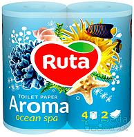 """Бумага туалетная """"Ruta Aroma"""" голубая 4рул."""