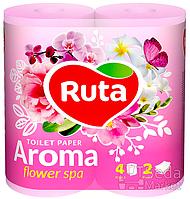 """Бумага туалетная """"Ruta Aroma"""" розовая 4рул."""