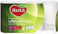 "Полотенца бумажные ""Ruta Universal"" 4рул. белые"