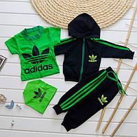 Детский спортивный костюм тройка унисекс  ( 2 цвета) р-ры 74-116см