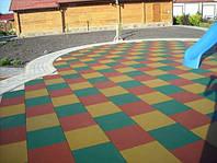 Резиновая плитка для детских площадок, фото 1